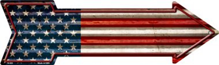 American Flag Novelty Arrow Sign A-655