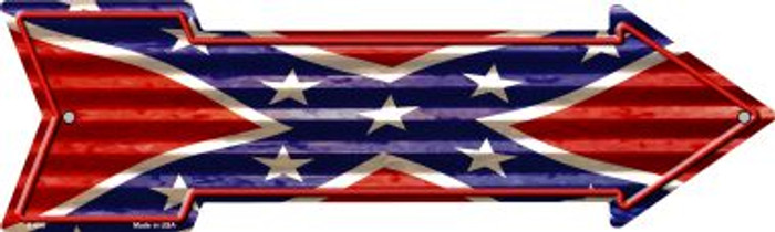 Confederate Flag Novelty Arrow Sign A-656
