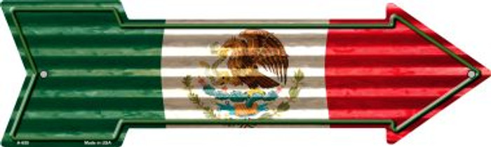 Mexico Flag Novelty Arrow Sign A-658