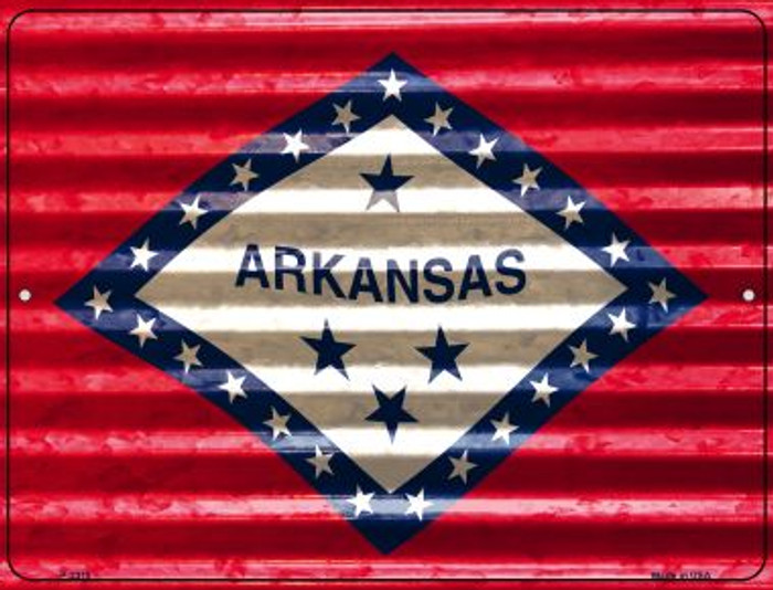 Arkansas Flag Novelty Parking Sign P-2318