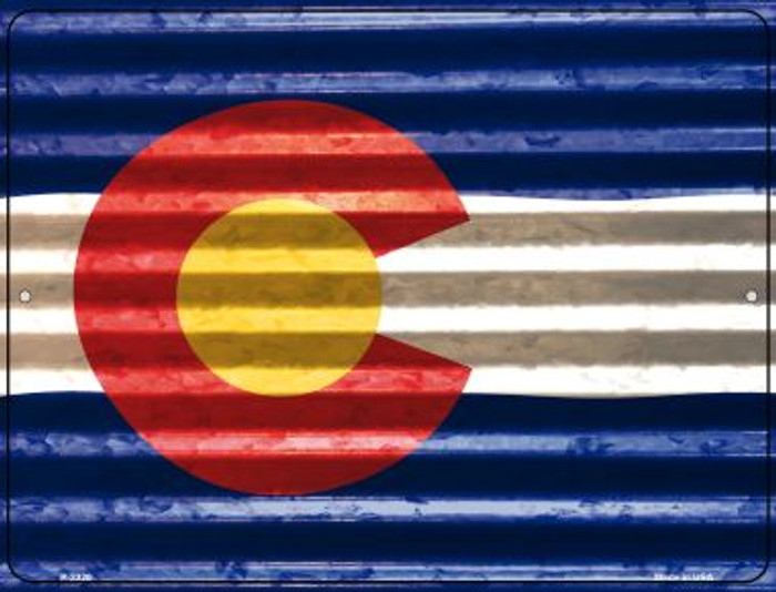 Colorado Flag Novelty Parking Sign P-2320
