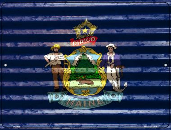 Maine Flag Novelty Parking Sign P-2333
