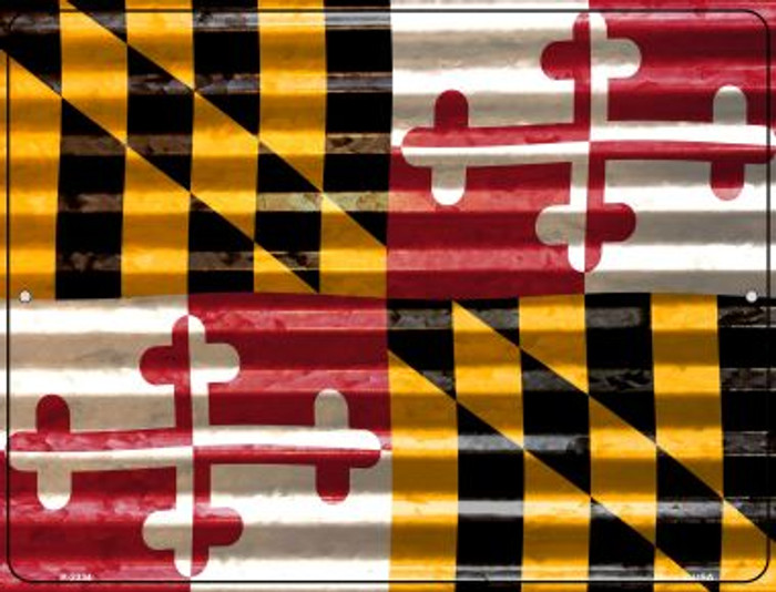Maryland Flag Novelty Parking Sign P-2334