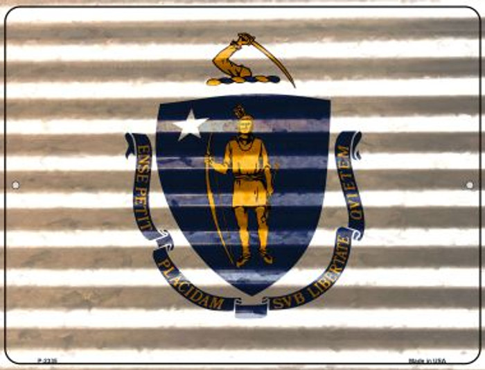 Massachusetts Flag Novelty Parking Sign P-2335