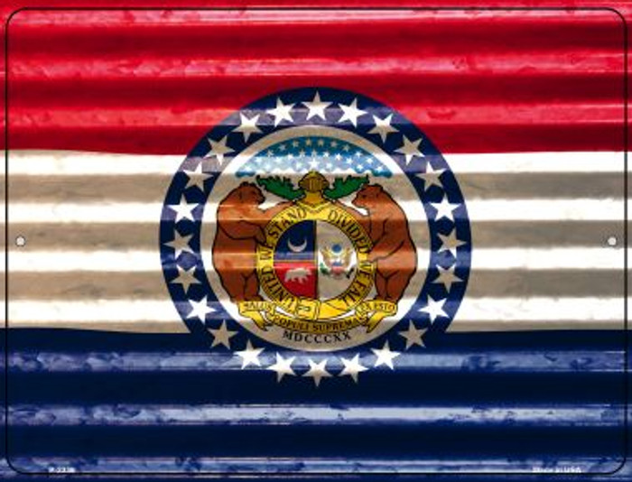 Missouri Flag Novelty Parking Sign P-2339