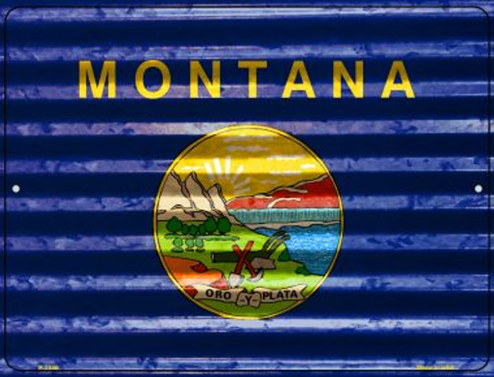 Montana Flag Novelty Parking Sign P-2340