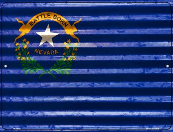 Nevada Flag Novelty Parking Sign P-2342
