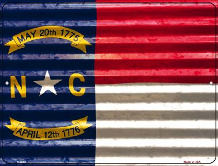 North Carolina Flag Novelty Parking Sign P-2347
