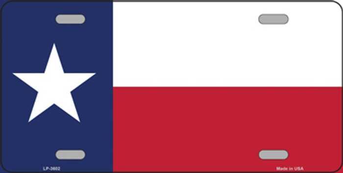 Texas State Flag Metal Novelty License Plate Tag LP-3602