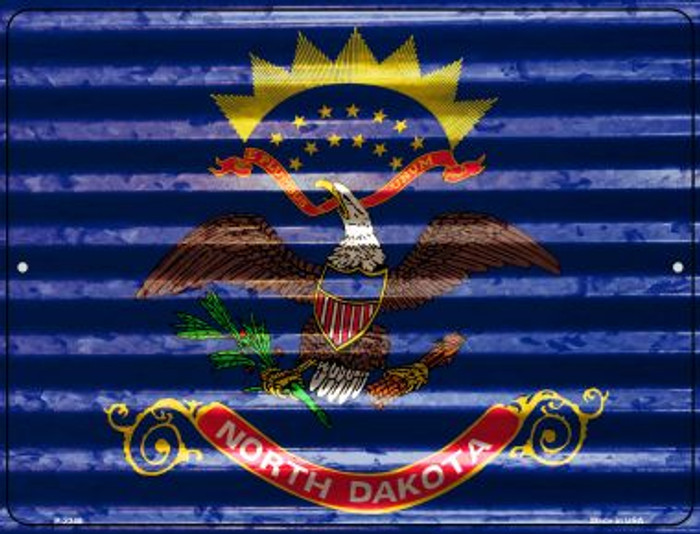 North Dakota Flag Novelty Parking Sign P-2348
