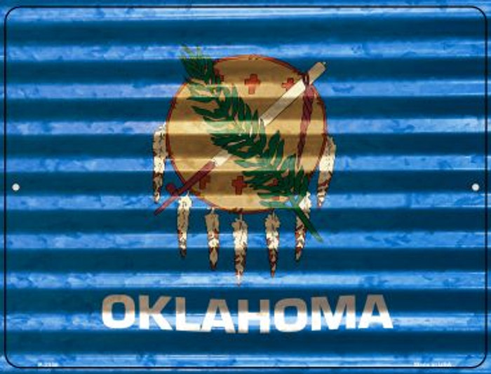 Oklahoma Flag Novelty Parking Sign P-2350