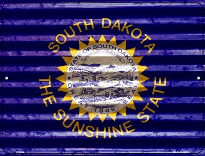 South Dakota Flag Novelty Parking Sign P-2355