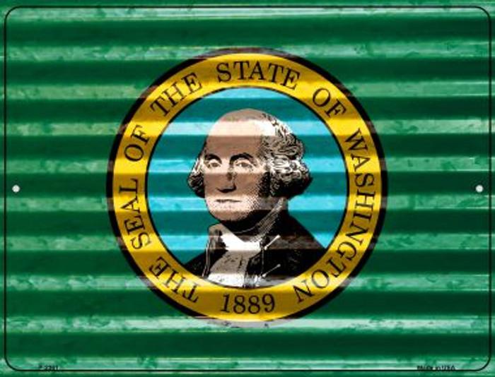 Washington Flag Novelty Parking Sign P-2361