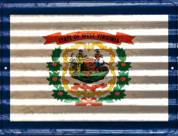 West Virginia Flag Novelty Parking Sign P-2362