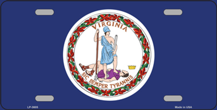 Virginia State Flag Metal Novelty License Plate Tag LP-3605