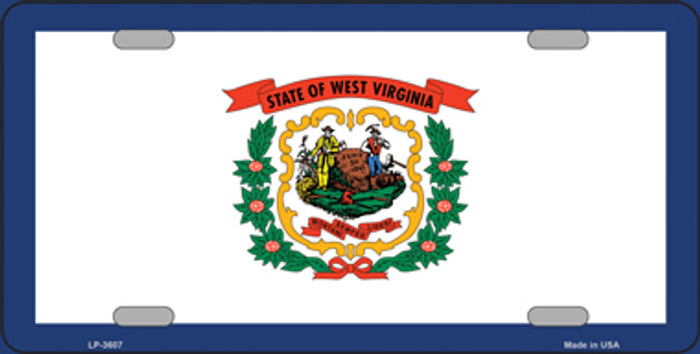 West Virginia State Flag Metal Novelty License Plate Tag LP-3607