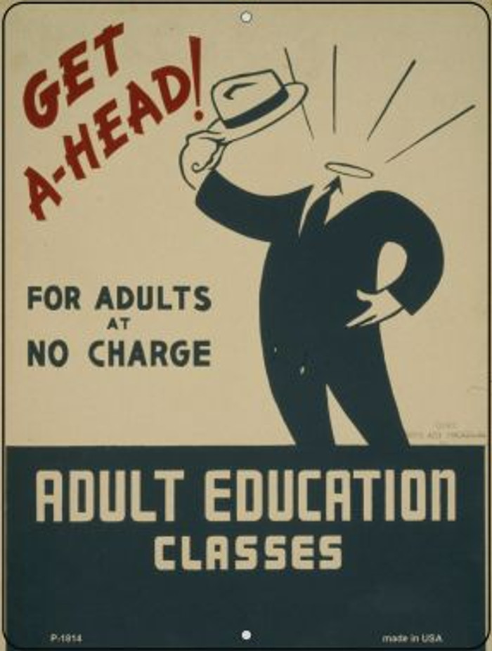 Adult Eduaction Classes Parking Sign P-1814