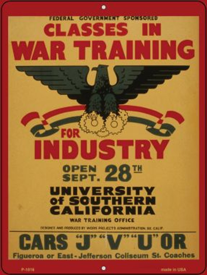 Classes in War Training Parking Sign P-1816