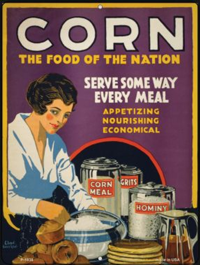 Corn Food of the Nation Vintage Poster Parking Sign P-1838