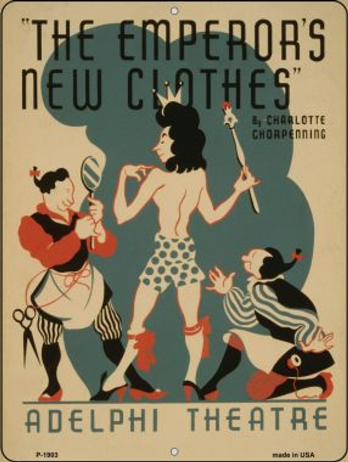 Emperors New Clothes Vintage Poster Parking Sign P-1903