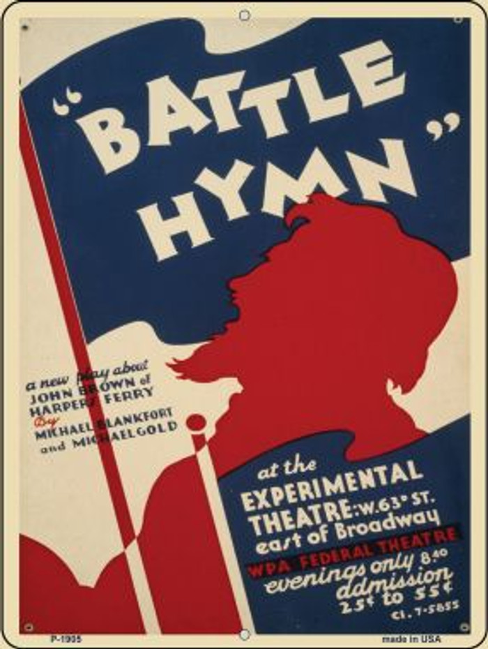 Battle Hymn Vintage Poster Parking Sign P-1905