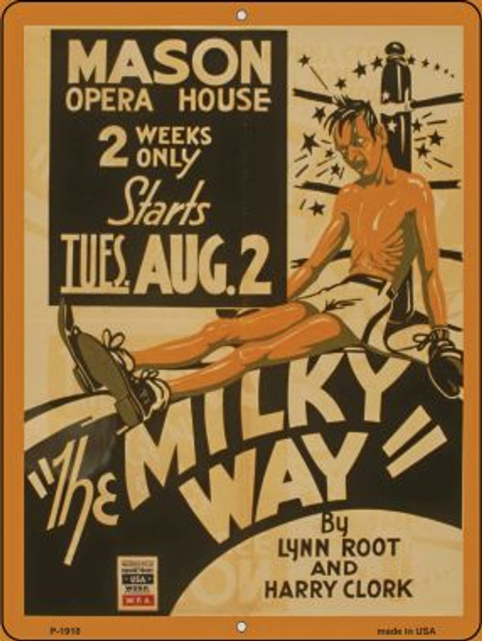 The Milky Way Vintage Poster Parking Sign P-1910