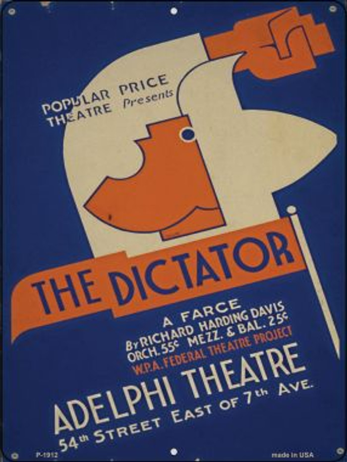 The Dictator Vintage Poster Wholesale Parking Sign P-1912