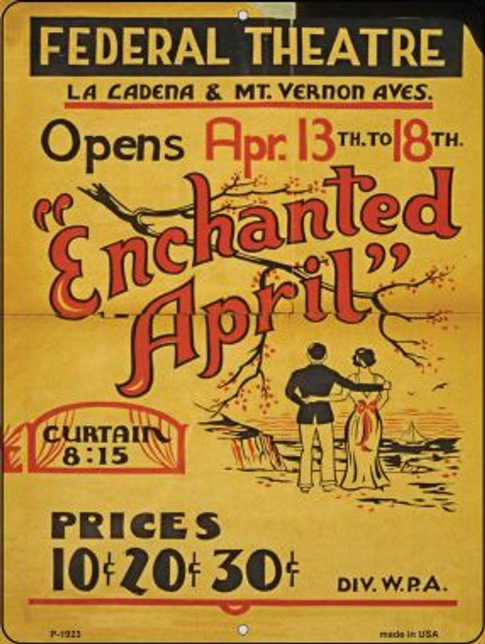 Enchanted April Vintage Poster Parking Sign P-1923