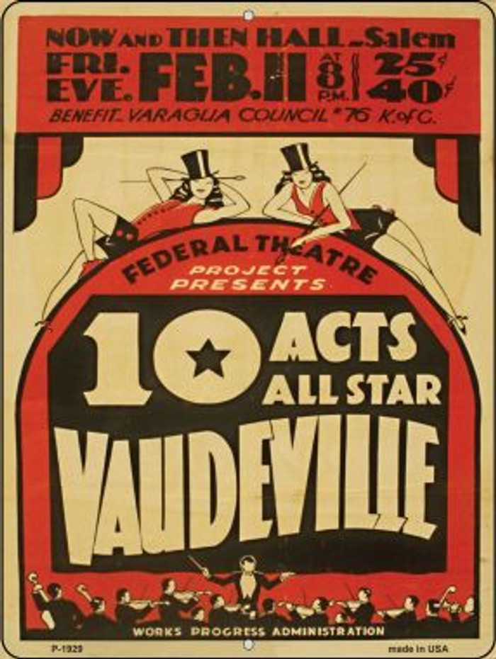 10 Allstar Acts Vintage Poster Wholesale Parking Sign P-1929