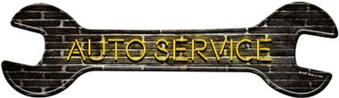 Auto Service Novelty Metal Wrench Sign W-120