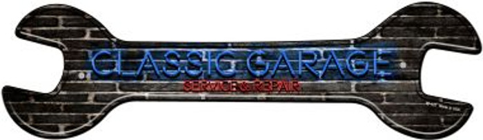 Classic Garage Novelty Metal Wrench Sign W-121