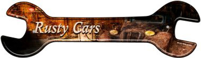 Rusty Cars Novelty Metal Wrench Sign W-133
