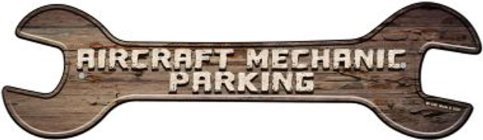 Aircraft Mechanic Parking Novelty Metal Wrench Sign W-140