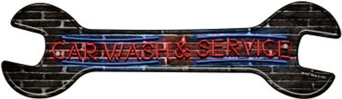 Car Wash and Service Novelty Metal Wrench Sign W-153