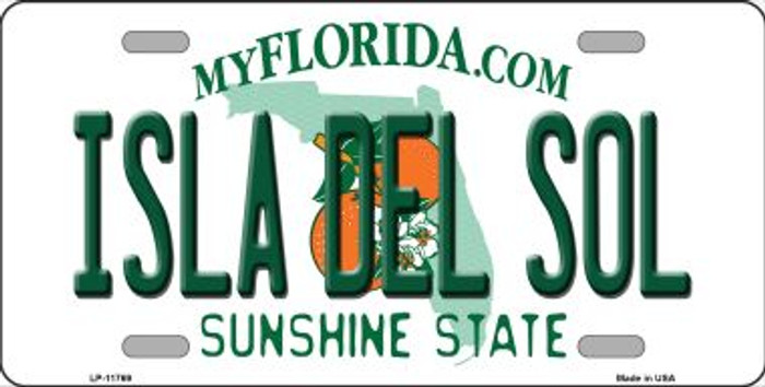 Isla Del Sol Florida Novelty License Plate LP-11769