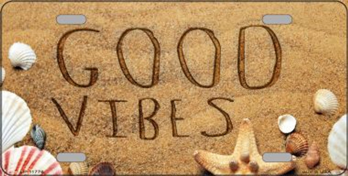 Good Vibes in the Sand Novelty License Plate LP-11776