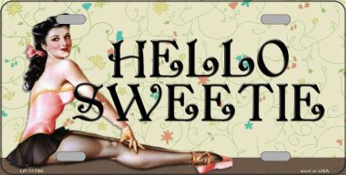 Hello Sweetie Vintage Pinup Novelty License Plate LP-11780
