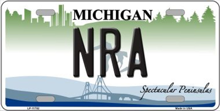 NRA Michigan Novelty License Plate LP-11782