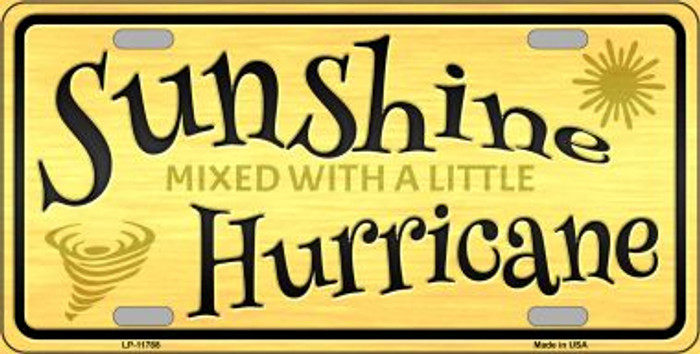 Sunshine With A Little Hurricane Novelty License Plate LP-11788