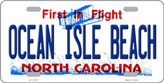 Ocean Isle Beach North Carolina Novelty License Plate LP-11797