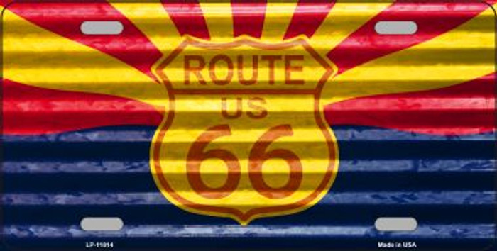 Route 66 Arizona Flag Novelty License Plate LP-11814