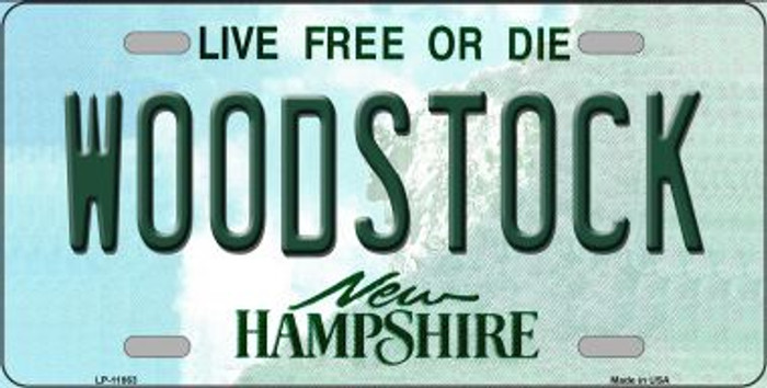 Woodstock New Hampshire Novelty License Plate LP-11863