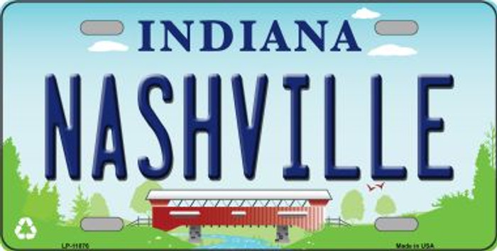Nashville Indiana Novelty License Plate LP-11876