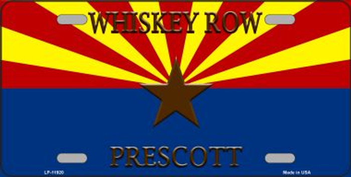 Whiskey Row Prescott Arizona Novelty License Plate LP-11920