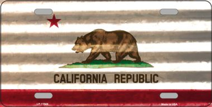 California Corrugated Flag Novelty License Plate LP-11946