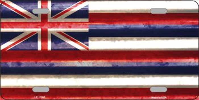 Hawaii Corrugated Flag Novelty License Plate LP-11952