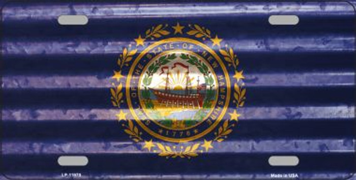 New Hampshire Corrugated Flag Novelty License Plate LP-11970