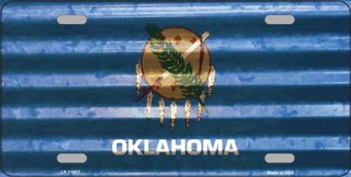 Oklahoma Corrugated Flag Novelty License Plate LP-11977