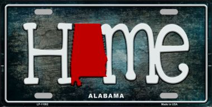 Alabama Home State Outline Novelty License Plate LP-11992