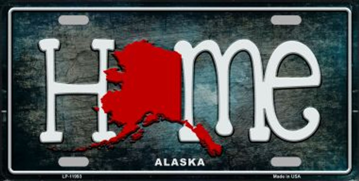 Alaska Home State Outline Novelty License Plate LP-11993
